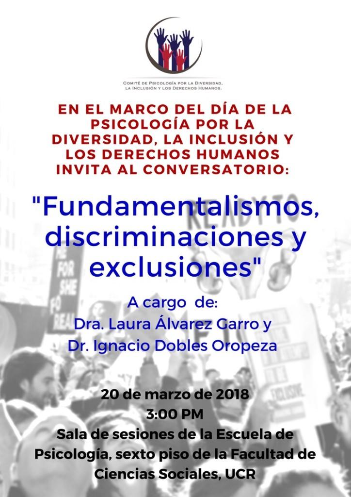 Conversatorio Fundamentalismos discriminaciones y exclusiones