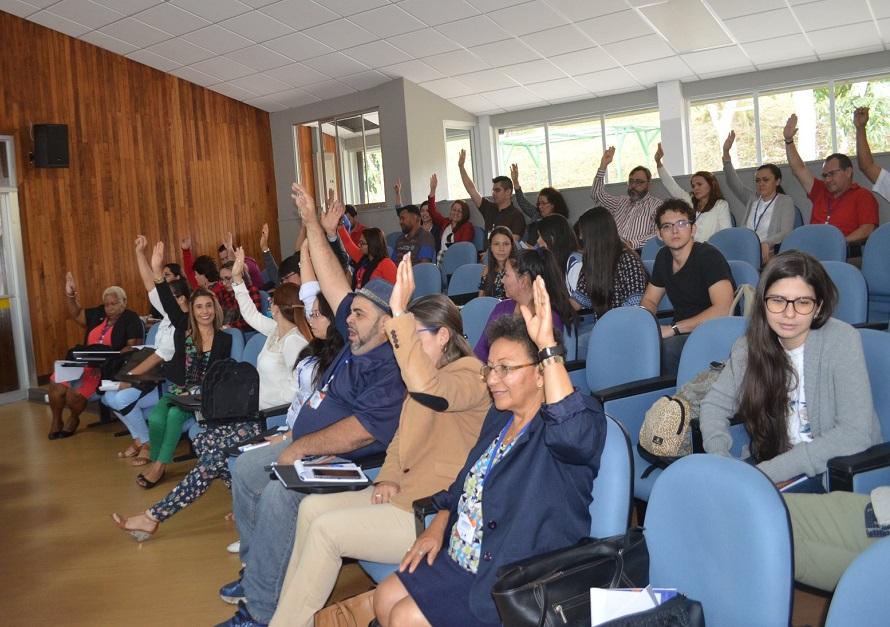 Miembros de todas las sedes y recintos regionales participaron activamente en el I Congreso de Regionalización Universitaria, del 17 al 20 de abril de 2018, en la Sede de Occidente. (foto Juan Gabriel Madrigal Cubero).