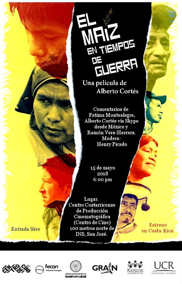 La pelicula El maiz en tiempos de guerra se estrenara en Costa Rica