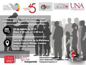 Conferencia UNA El papel de las universidades publicas en la politica de Gobierno Abierto