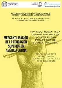 UCR Mercantilizacion de la Educacion Superior en America Latina