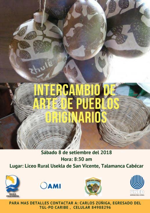 UNED Intercambio de artes de pueblos originarios
