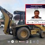 Recuperan maquinaria pesada robada en Atlatlahucan