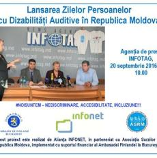 Lansarea Zilelor Persoanelor cu Dizabilități Auditive în Republica Moldova