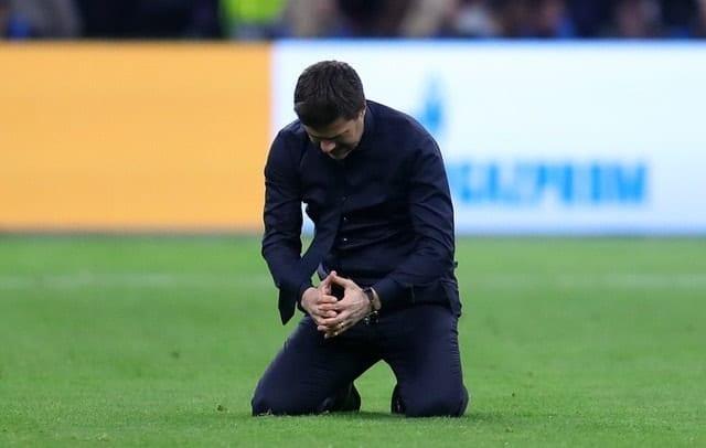 Mauricio Pochettino looks emotional