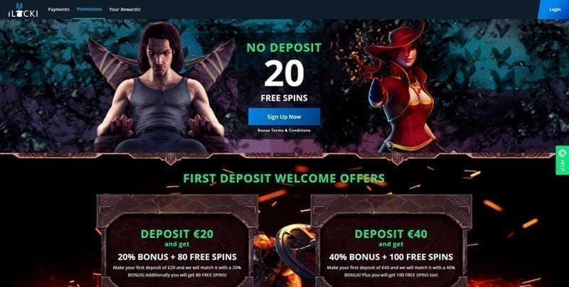 iLucki Casino Free Spins