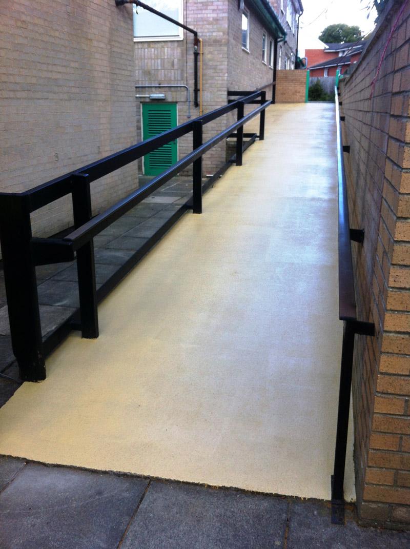 Concrete Ramp Anti Skid