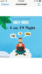 Holy Vince – -4 On 19 Night