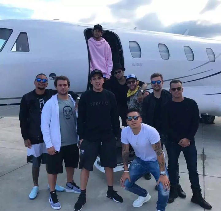 Meet the 11 Man Squad Neymar pays huge Amount just to follow him around