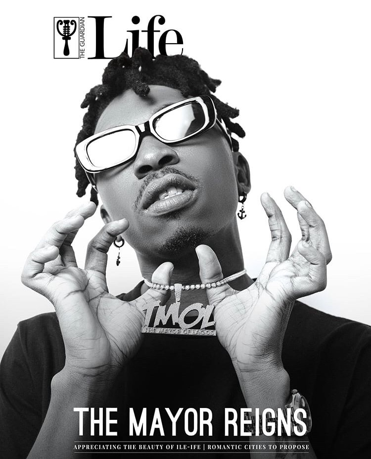 Mayorkun Covers The Guardian Life's Latest Issue | See Full Details