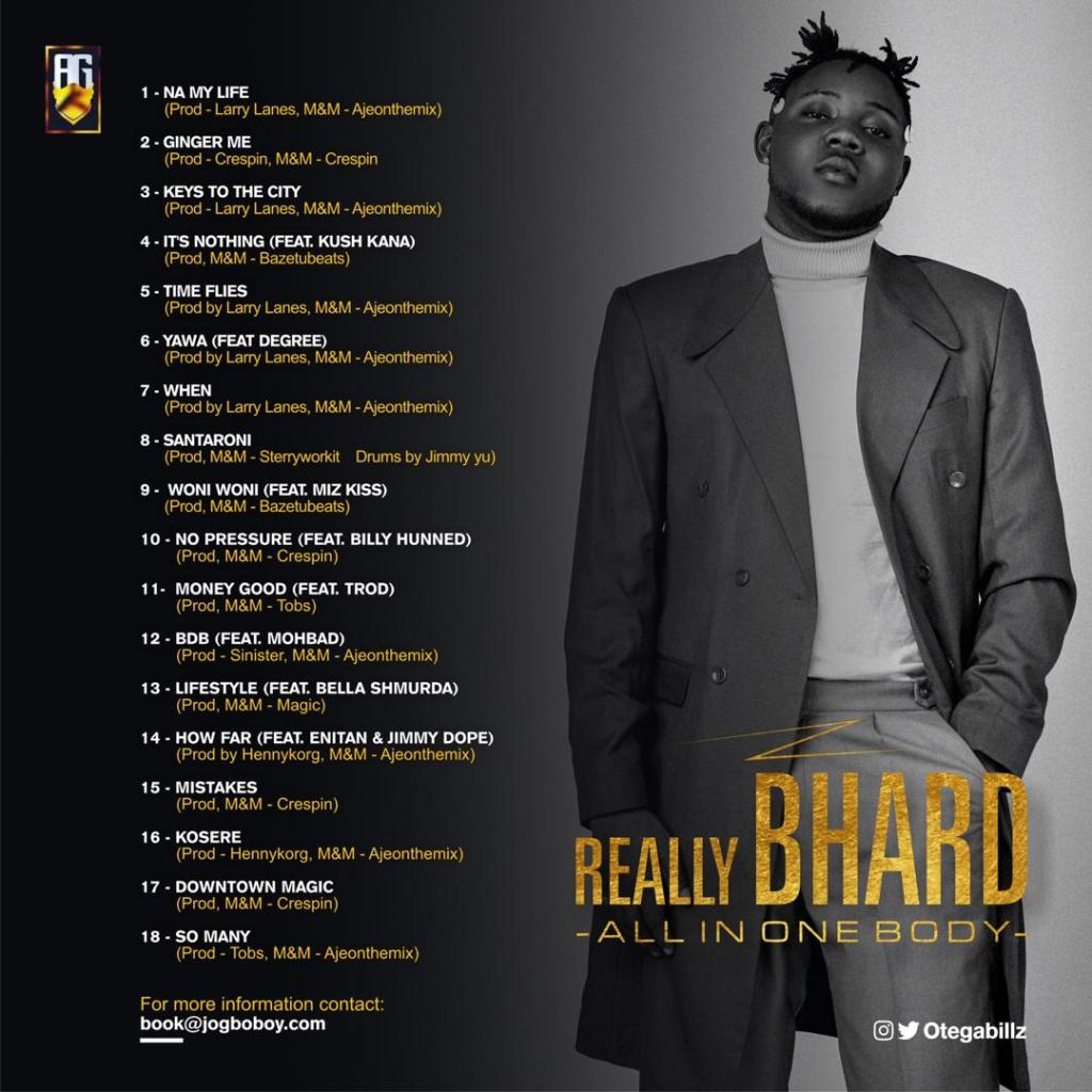 "Otega To Release New Album ""Really Bhard"" 