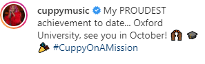 DJ Cuppy Gains Admission Into Oxford University For A Master's Degree