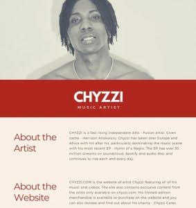 Meet Chyzzi: The Nigerian Music Artisrt With A Dynamic Style