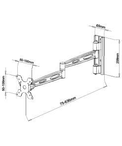 """15""""-24"""" Lockable Cantilever Bracket (SCL01XL) 5"""
