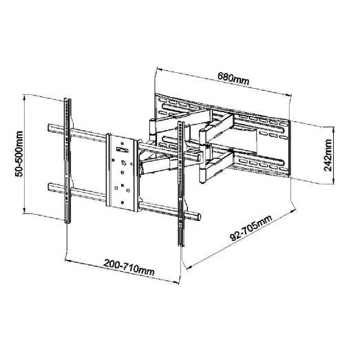 "40""-90"" Premium Cantilever TV Bracket (SCL09) 2"