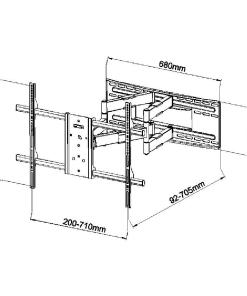 "40""-90"" Premium Cantilever TV Bracket (SCL09) 6"