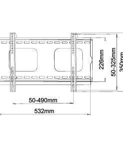 Slimline SFSS01 TV Wall Bracket Measurements