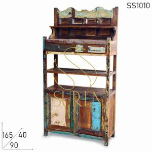 SS1010 Suren Space Recycled Wood Hutch Cabinet Display Storage Unit