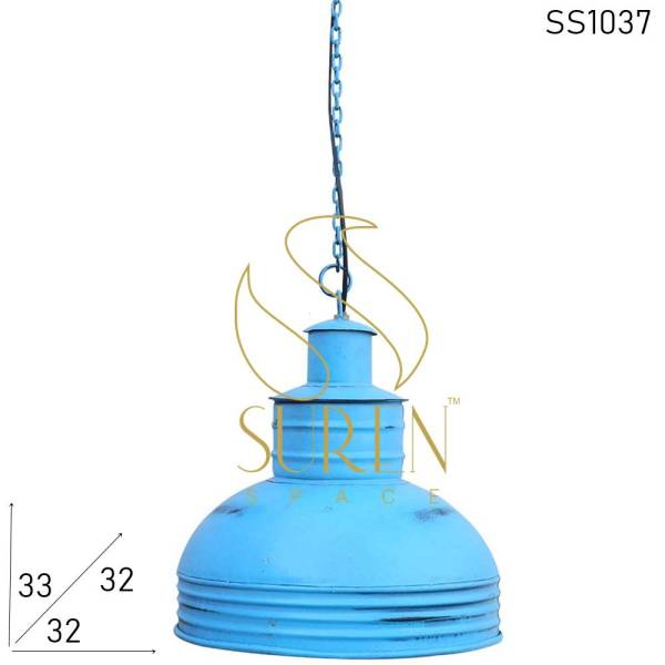 SS1037 Suren Space Blue Distress Restaurant Theme Industrial Light