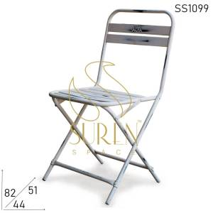 SS1099 Suren Space White Distress Folding Metal Resort Outdoor Camping Stühle