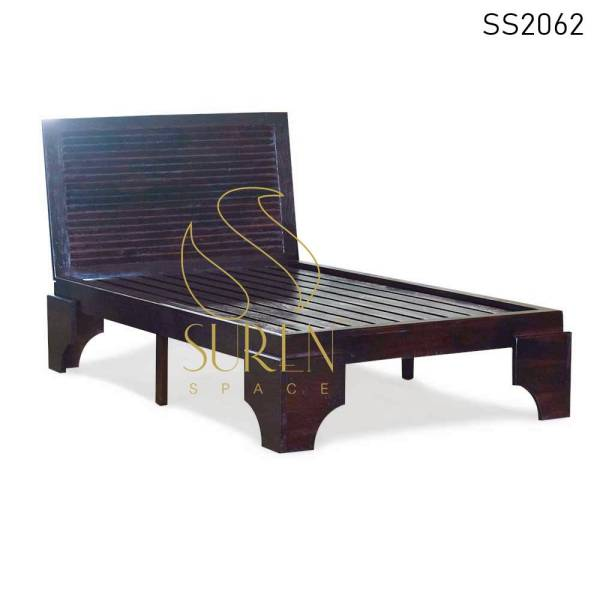 SS2062 Suren Space High Head Rest Massief Houten Resort Villa's Bed Design