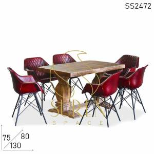 SS2472 Suren Space Armleuning Lederen Fitted Designer Choice Hotel Dining Set