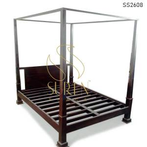 SS2608 Suren Space Solid Wood Four Poster Guest House Bedroom Bed Design