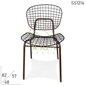 SS1214 Suren Space All-Weather Proof Rustic Metal Stackable Outdoor Chair