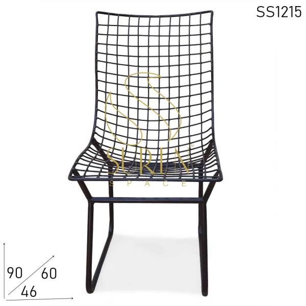 SS1215 Suren Space All Weather Proof Metal Industrial Comfortable Outdoor Chair
