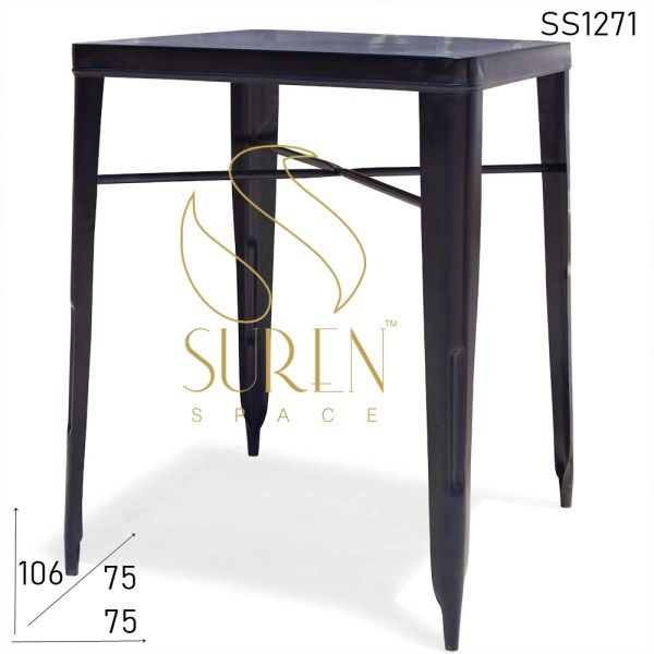 SS1271 Suren Space Metal Black Bar Height Counter Table Design