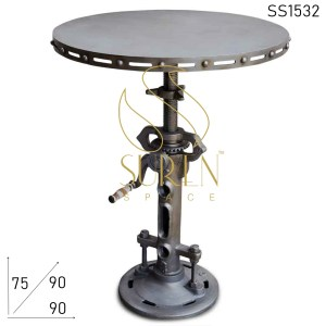 SS1532 Suren Space Metal Cast Iron Adjustable Industrial Bar Table