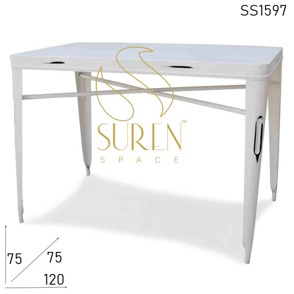 SS1597 Suren Space Rectangle Metal Distress Industrial Table
