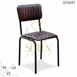 SS1697 Suren Space Leather Metal Restaurant Designer Chair