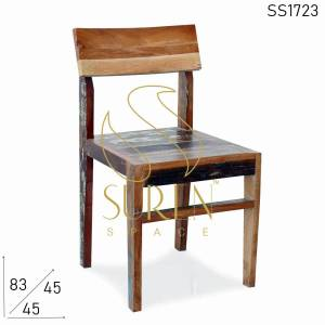 SS1723 Suren Space Indian Recycled Old Wood Restaurant Chair