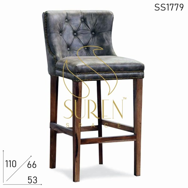 SS1779 Suren Space Leatherette Bar Pub Brewery Counter Chair