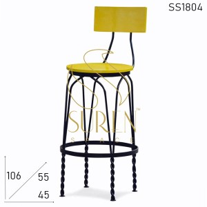 SS1804 Suren Space Metal Wooden Bar Chair Design