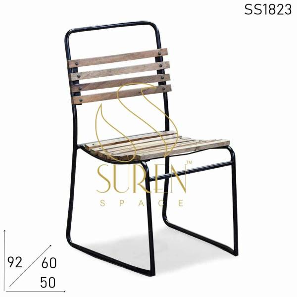 SS1823 Suren Space Mango Wood Metal Designer Industrial Chair