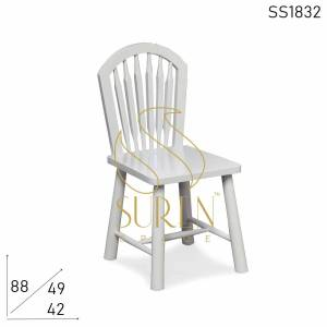 SS1832 Suren Space White Base Solid Wood Restaurant Chair