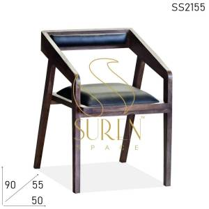 SS2155 Suren Space Solid Wood Leather Seating Fine Dine Restaurant Chair