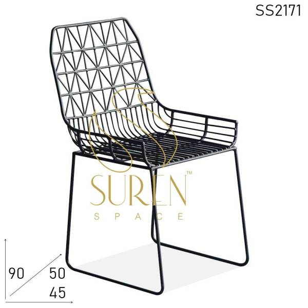 SS2171 Suren Space Bent Metal Industrial Outdoor Bistro Chair