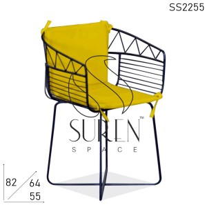 SS2255 Suren Space Metal Bistro Outdoor Garden Chair