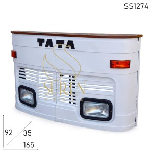 SS1274 Suren Space Old Indian Truck Style Counter Cum Wine Back Cabinet