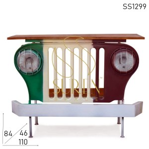 SS1299 Suren Space Multicolored Solid Wood Jeep Style Console Table