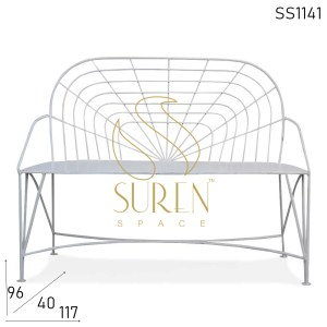 SS1141 SUREN SPACE Bent Metal Iron Outdoor Two Seater Bench