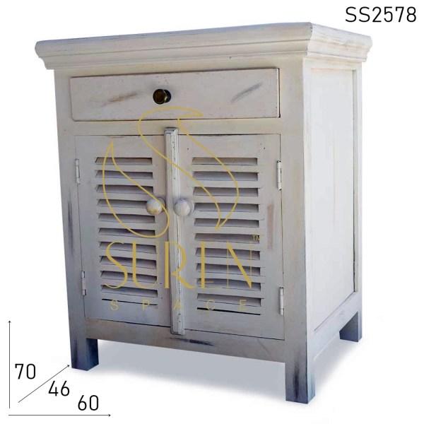 SS2578 Suren Space White Wash Wooden Furniture Design