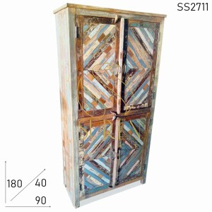 SS2711 Suren Space Old Indian Wood Reclaimed Design Solid Wood Wardrobe