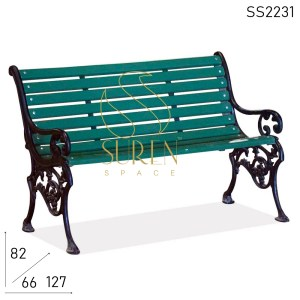 SS2231 Suren Space Cast Iron Carved Garden Bench Design (en anglais)