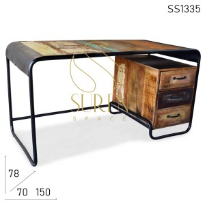 SS1335 Suren Space Reclaimed Industrial Indian Style Study Table Design