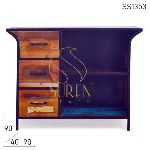 SS1353 Suren Space Industrial Reclaimed Duel Finish Cabinet Design