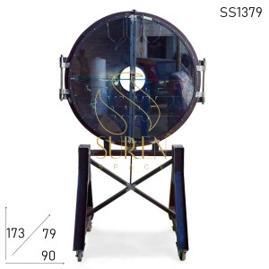 SS1379 Suren Space Cast Iron Glass Door UFO Shape Unique Bar Cabinet